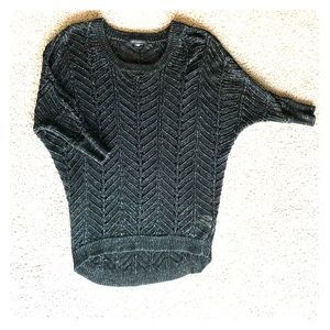 Metaphor Black and Silver Sweater